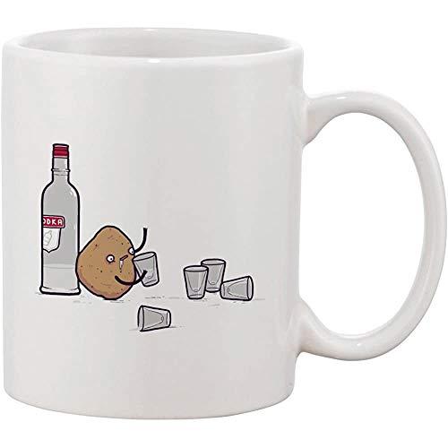 Keramische koffiemok wodka aardappel Randy Otter