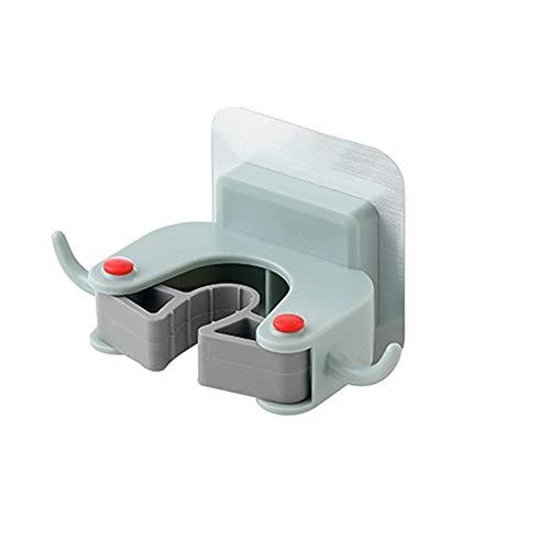 Xfc plastic bezem en dweilhouder, zelfklevend geen boren, muur gemonteerde opslag rek voor uw huis keuken en kast