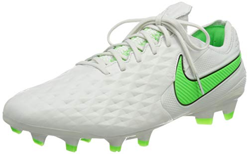 Nike Legend 8 Elite FG, Scarpe da Calcio Unisex-Adulto, Platinum Tint/Rage Green-Black, 41 EU
