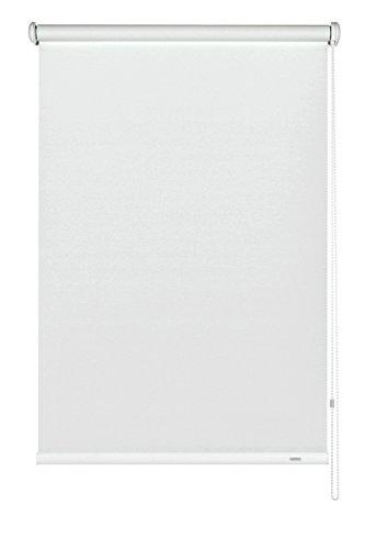 GARDINIA Seitenzug-Rollo zum Abdunkeln, Decken-, Wand- oder Nischenmontage, Lichtundurchlässig, Alle Montage-Teile inklusive, Weiß, 122 x 180 cm (BxH)