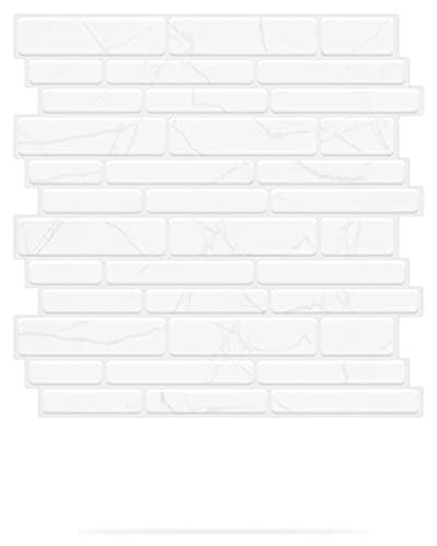 Art3d Peel and Stick Backsplash Tiles in Marble Design, 12