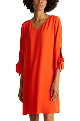 ESPRIT Collection Damen 990EO1E303 Kleid, 825/RED ORANGE, 42