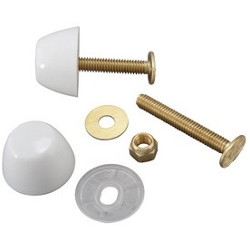 Plumb Pak 2-1/4-in L White Floor Bolts and Caps Set