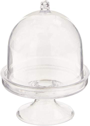 mini acrylic cake stand with lid - 3