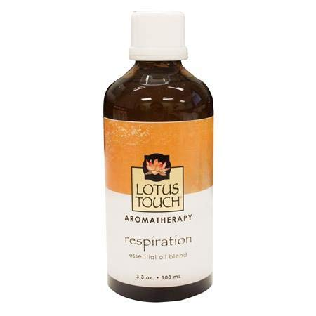 Respiration Essential Oil Blend by Lotus Touch, 100 ml Bottle - 100% Pure Therapeutic Grade Single-Note Essential Oil for Aromatherapy - Helps you Breathe Easier for those with Allergies or Congestion