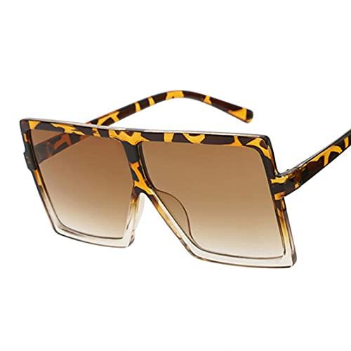 LUOXUEFEI Gafas De Sol Gafas De Sol De Gran Tamaño Para Mujer Gafas Cuadradas Negras Gafas De Montura Grande Mujer Unisex