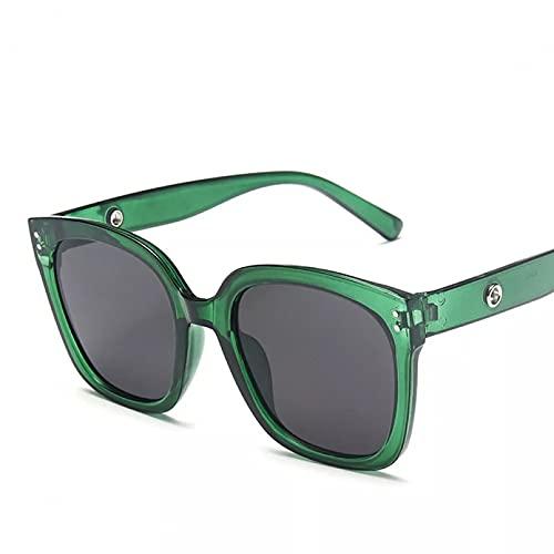 TYOLOMZ Gafas de Sol Mujeres Hombres Personalidad Moda Gafas de Sol de Gran tamaño al Aire Libre uv400 Gafas de Sol de conducción para Mujeres Gafas cuadradas Vintage