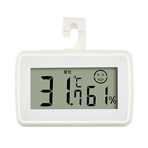 Termómetro digital para interiores higrómetro medidor de humedad temperatura (blanco)