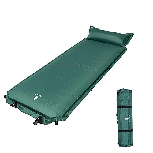Zenph Colchoneta de camping, autoinflable, alfombrillas de aire portátiles de 7,6 cm de grosor, almohadillas individuales inflables, para mochileros, camping, viajes, playa, patio