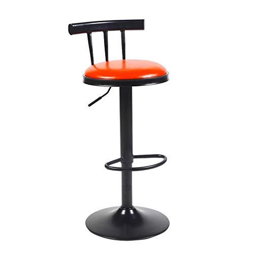 ZHJBD Meubelkruk/Barkrukstoel met rug Verstelbare bureaustoelen Lifting Bar Hoge Kruk Draaibare bureaustoelen 24 Inch Hoge Stoel PU Leer