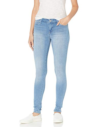 Celebrity Pink Jeans Women's Infinite Stretch Mid Rise Skinny Jean, Outsiders Wash, 11