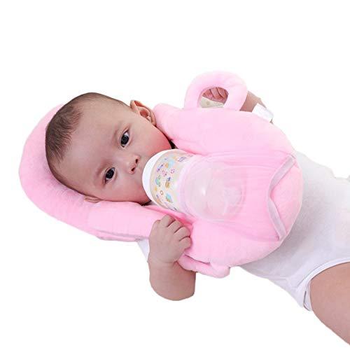 almohada bebe,plagiocefalia,cojín antivuelco,Cojín de lactancia Anti Roll Previene el cojín plano y cómodo para la alimentación del bebé Cojín para la cabeza con soporte botella portátil sin manos