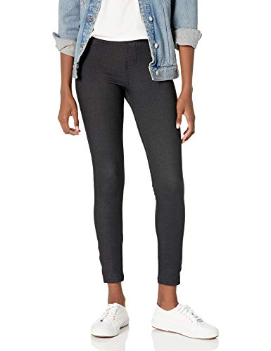 No nonsense Women s Stretch Denim Leggings with Pockets, Black, Small