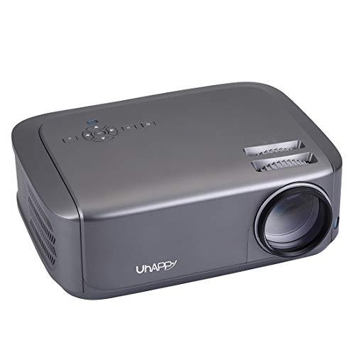 U68 Panel LCD único 1080P LED HD Mini proyector con control remoto, soporte AV/VGA/USB x 2 / HDMI x 2