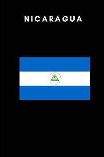 Nicaragua: Country Flag A5 Notebook to write in with 120 pages