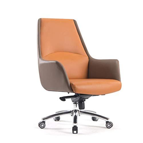 MKXF Silla Boss, Silla de Oficina de Cuero, Silla para computadora con Respaldo, Silla giratoria cómoda para el hogar Simple