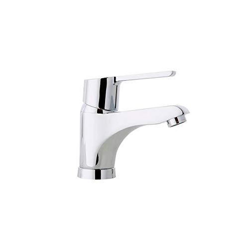 Ramon Soler 46A305019 Atalanta – Grifo monomando de lavabo con sistema S2 de ahorro de agua del 50%, limitador de temperatura tempostop y cromado Diamond Finish, cromo