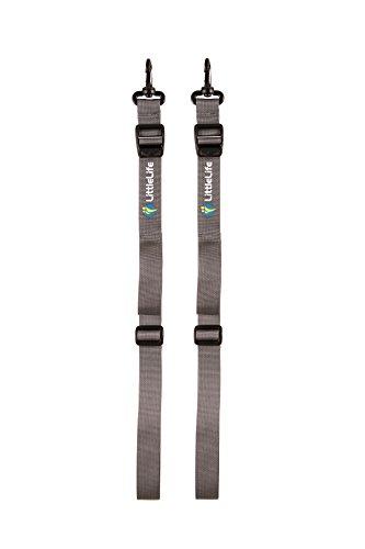 LittleLife Child Carrier Foot Stirrups, Grau, Einheitsgröße