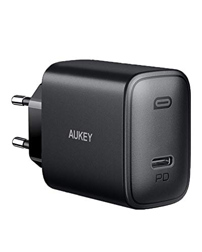 AUKEY 18W USB C Ladegerät Mit Power Delivery 3.0, Schnellladegerät USB C Netzteil für iPhone 11 Pro Max XS XR 8 Plus, iPad Pro Air Mini, AirPods, Samsung Galaxy S9 S8, Huawei Mate 30, Xiaomi, Switch