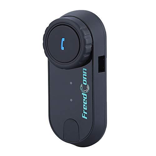 Freedconn Manos Libres Bluetooth para Moto T-COM 1000M BT Intercom Headset Intercomunicador de Motocicleta Auriculares Bluetooth Radio FM Impermeable Intercom Headset