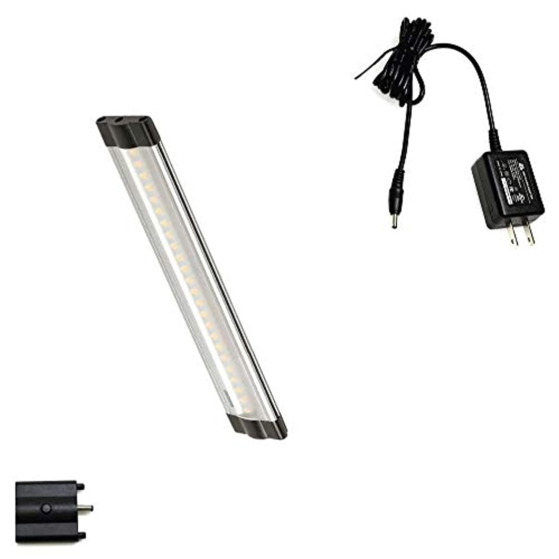 Lightkiwi Dimmable LED Under Cabinet Lighting 1 Panel Kit, 6 Inches Each, Warm White (3000K), 3 Watt, 24VDC, On/Off Switch & All Accessories Included, Low Profile, Sturdy Aluminum Body, UL Listed