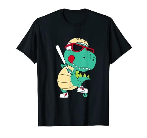 T-Rex jugando al bisbol, Entrenador de bisbol Dino Lover Camiseta
