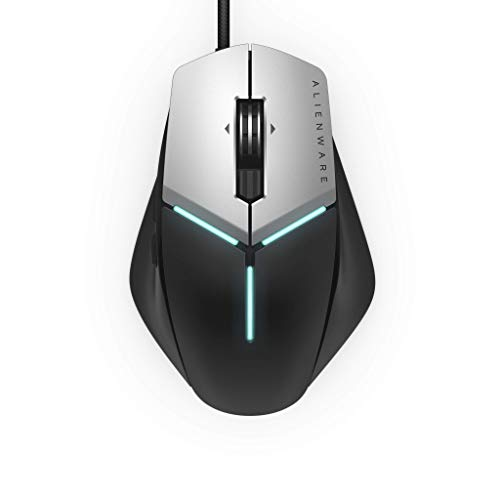 Alienware Elite Gaming Mouse AW959 with 12, 000 DPI Pixart Optical Sensor Featuring Redesigned Side Wings for Improved Grip and Alienfx with RGB Lighting