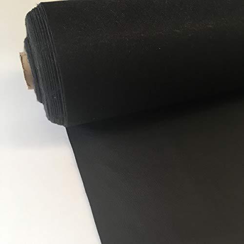 Kt KILOtela Tela por Metros de Polipiel para tapizar - Tapicería - Ancho 140 cm - Largo a elección de 50 en 50 cm | Negro