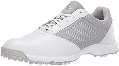 adidas Womens TECH Response Golf Shoe, White/Silver Metallic/Grey Two, 5 M US