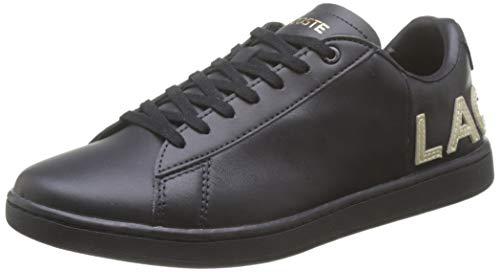 Lacoste Damen Carnaby Evo 120 6 Us Sfa Sneaker, Schwarz (Blk/Blk), 38 EU