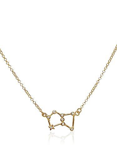 Córdoba Jewels | Gargantilla en Plata de Ley 925 bañada en Oro. Diseño Orion Zirconium
