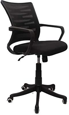 Office Chair with Mesh Seat (Black) Model No_001
