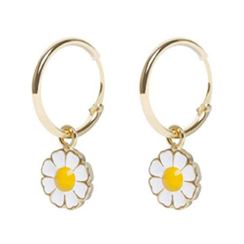 Viesky Coloful Daisy Flower Colgante Collar Pendientes Pulsera Conjunto de Joyería para Mujer