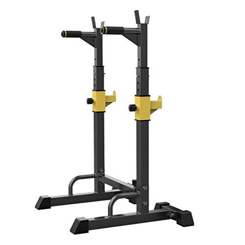 DAGCOT Fitness Bench Equipo de prensa Hogar y gimnasio Squat Rack Squet Simple Parallel Bares Men's Fitness Barbell Rack Ajustable Soporte Fuerza de entrenamiento Soporte Multifuncional Estante Inicio