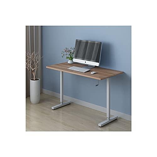 LICHUAN Mesa de escritorio de ordenador de altura ajustable para ordenador portátil, mesa de estudio moderna para el hogar, dormitorio, oficina, estación de trabajo (color: marrón)