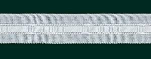 Cinta universal para cortinas (ancho 22 mm, hasta 10 m), color blanco