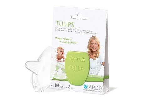 Ardo Tulips Brusthütchen aus Silikon – Größe M – Hauchzartes BPA-freies Stillhütchen für schmerzende Brustwarzen beim Stillen – Erleichtert die Ernährung des Babys mit Muttermilch – 20mm