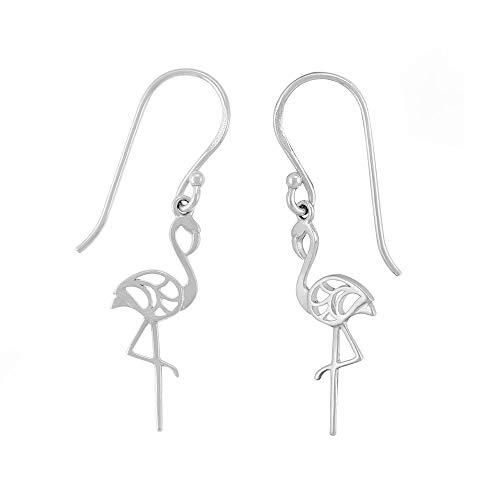 Boma Jewelry Sterling Silver Flamingo Dangle Earrings