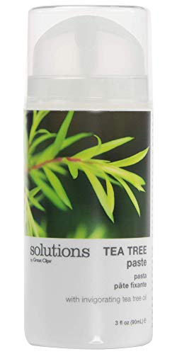 Solutions by Great Clips Tea Tree Paste 3.4oz | Easy Pump | Peppermint Scent | Mold and Style Hair