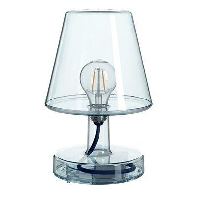Lámpara Fatboy Transloetje | Azul | Lámpara de escritorio, luz de lectura, lámpara de mesita de luz | sin cable | recargable con Mini USB