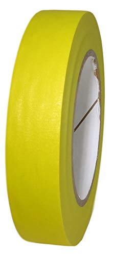 T.R.U. CPM-60 Colored Kraft Masking Tape with Rubber Adhesive Ideal for Teachers, Labeling, Classroom, and Decoration. 6o Yards. (Yellow, 1 in. (Pack of 1))