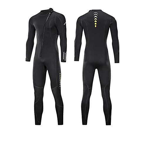 ReedG Traje de trabajo de los hombres ultra estiramiento Una pieza para hombres, snorkeling, buceo nadando, surf. Natación de buceo (Color : Black, Size : 4XL)