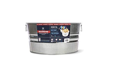 Behrens 2GS 15 Gallon Round Galvanized Steel Tub