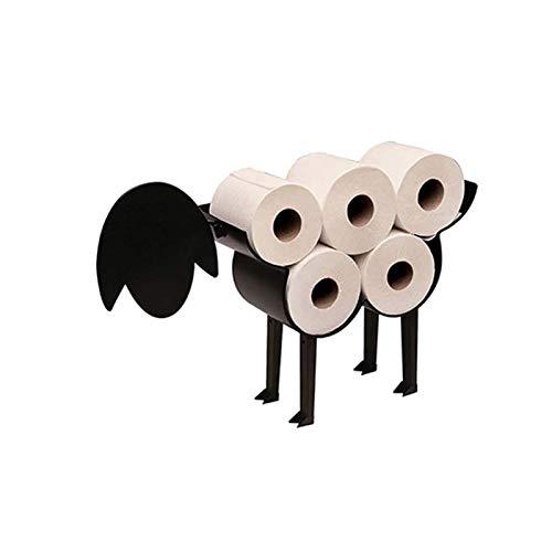 Portarrollos De Papel Higiénico De Oveja, Estante De Almacenamiento De Papel Higiénico Para 8 Rollos De Papel, Organizador De Soporte De Rollo, Colgador De Pañuelos De Metal, Portarroll(Color:Cordero)