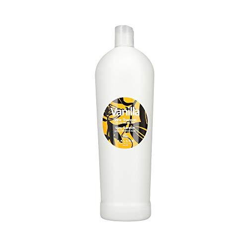 KALLOS Vanilla Shine Shampoo für trockenes und mattes Haar 1000 ml