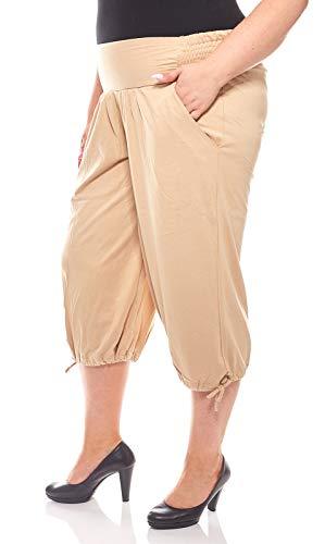 Sheego Luftige 3/4 Haremshose Sommerhose Jersey Hose Große Größen Beige, Größenauswahl:48