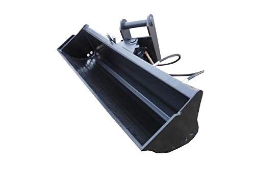 Baggerschaufel Minibagger Radlader Schaufel Arbeitsbreite: 100cm / Tiefe: 40 cm/Aufnahme: MS03 um 45° Hydraulisch schwenkbar