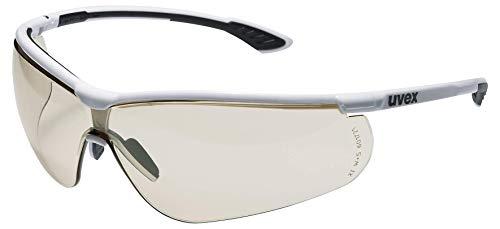 Uvex Sportstyle Schutzbrille - Braune Arbeitsbrille - Schwarz-Weiß