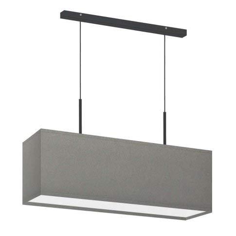 Lámpara de techo Milos con pantalla de color gris acero, marco negro