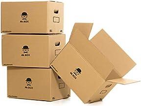 MR.BOX Pack 20 Cajas Cartón con Asas para almacenaje y mudanza ...